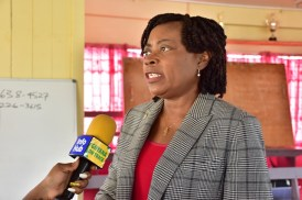 Programme Coordinator of the Ministry of Social Cohesion, Sharon Patterson.