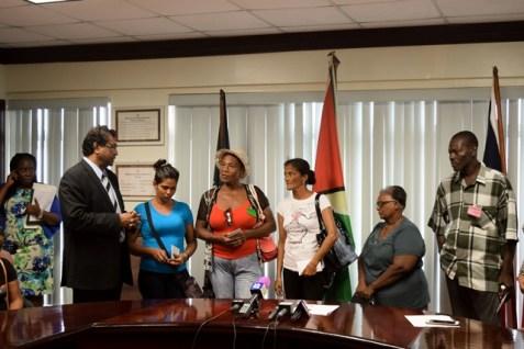 Relatives of five of the victims of the piracy attack .