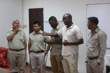 Mines Officers who benefit from the TIP training.