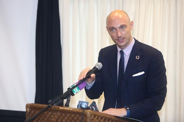 UNICEF country representative, Palo Marchi.