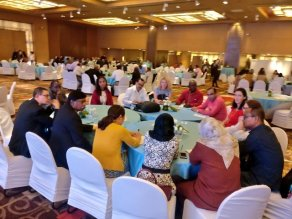 Participants at the New Delhi Lymphatic Filariasis Conference.