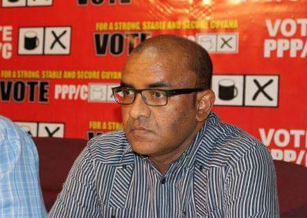 Leader of the Opposition Bharat Jagdeo