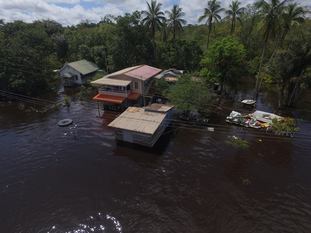 Some of the affected homes