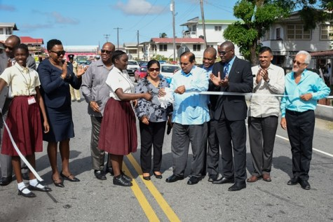 Ribbon cutting of the fourth road project