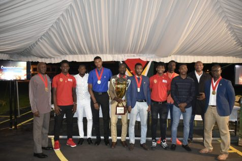 Members of the National men's basketball team who created history at the 2018 CBC Caribbean Championship