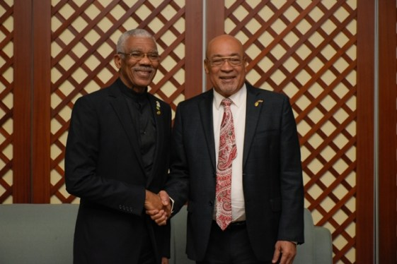 President David Granger and President Desi Bouterse.