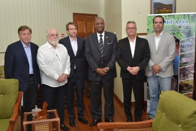 (from left) José Mario de Castilho, John Forman, Alexandre Saverin Minister of State, Joseph Harmon, Luis Panelli and Yucatan Reis