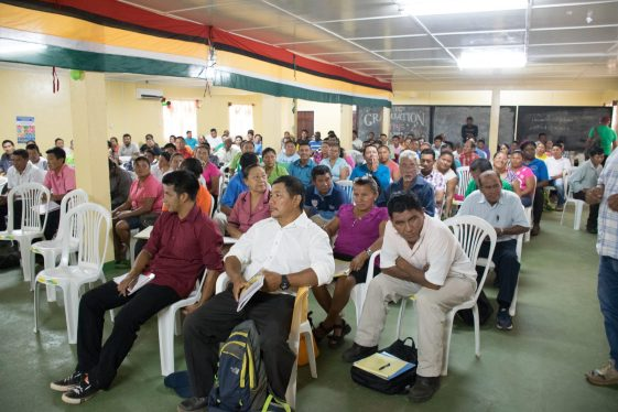 Toshaos and Councillors at the Regional Toshaos' Conference