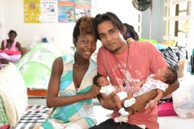 Shequita Michael and Vincent Benjamin with their twins, Orion and Venus Benjamin.