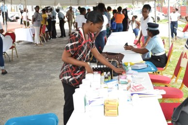 Guyana Police Force's (GPF) Health fair hosted by the Ministry of Public Health.