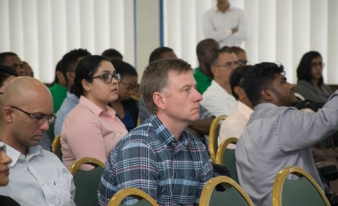 Attendees at the forum at the Marian Academy.