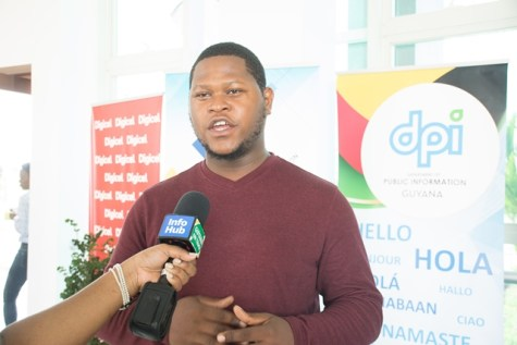 Agriculture Science Student of the University of Guyana, Aubrey Sultan, attended the sessions on e-agriculture at the CTU-ICT Roadshow