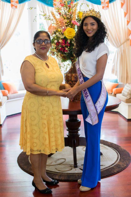 Mrs. Sita Nagamootoo and Miss World Guyana 2018, Ambika Ramraj