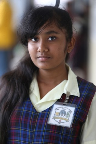 Esha Lakeram, who scored 523 marks at this year's NGSA which placed her at Queen's College.