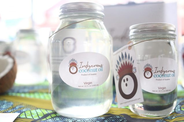 Indigenous coconut oil produced by Shania Evans