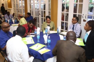 Participants attending the seminar in discussion.
