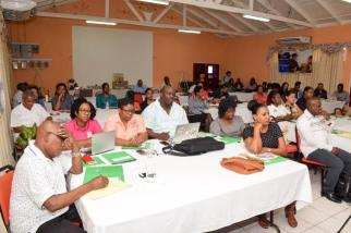 Regional Health Officers participating in the workshop.