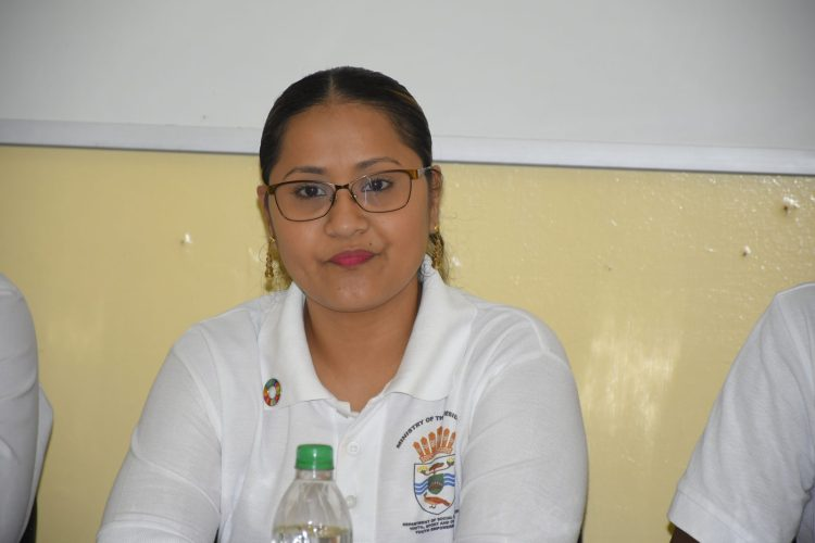 Senior Research, Planning and Development Officer of the Department of Youth, Adeti De Jesus