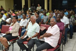 Section of persons present at the lecture