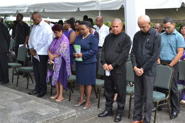 Government Ministers at the ceremony this morning