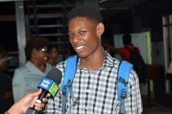 New University of Guyana student, Kareem Miller