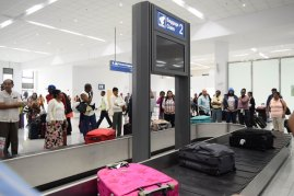 CJIA New Arrival Terminal baggage carousel.