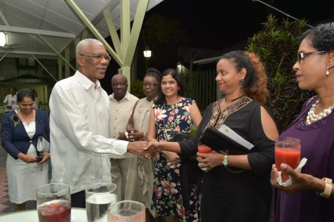 President David Granger meets with Director, Health Science and Education for the Nursing Profession