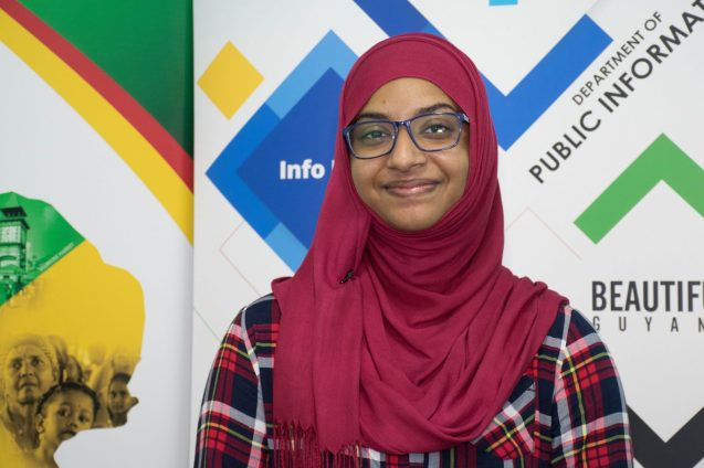 Queen's College student, Aadilah Ali who secured eight Grade Ones at CAPE