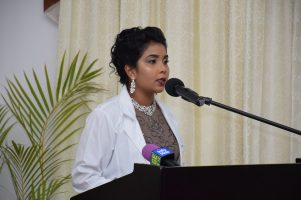 Dr. Sodavie Naraine, the Valedictorian of the 2018 batch of Cuba-trained Medical Doctors