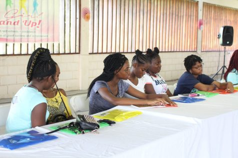 Participants at the Girl Stand Up Empowerment Camp