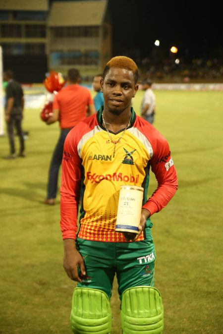 Man of the Match, Shimron Hetmyer