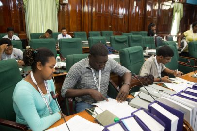 Students participating in the sessions at the Youth Parliament