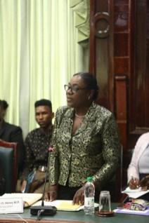 Minister of Education, Nicolette Henry
