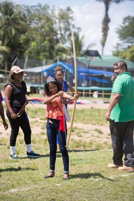 Miss Moruca 2017 gets the ball rolling on the archery activities