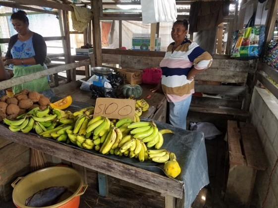 Aunty Shirley Dharry at her market stand.