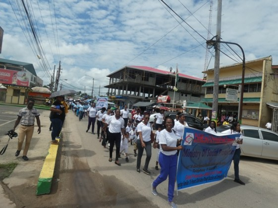 Participants during the grand parade.