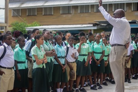 Chief Education Officer (CEO) Marcel Hutson engaging the students.