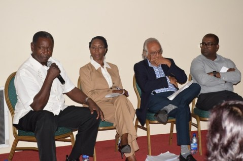 Panelists at the GMSA's discussion on the 'green paper' on the NRF