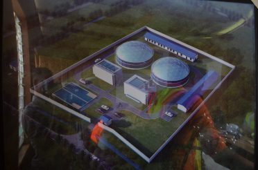 Design of how the finished treatment plant should look