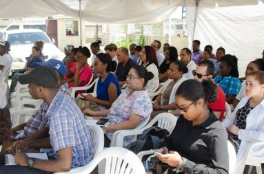 Participants during the public consultations.