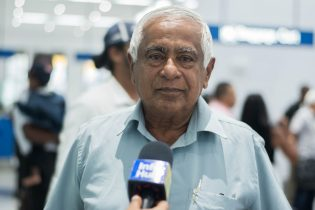 Arriving passenger, Hemraj Kissoon is a businessman returning from Shangai and South Korea