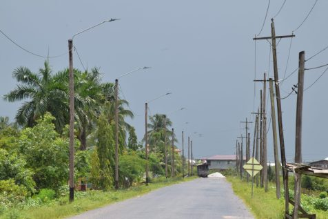 Some of the LED streetlights installed along the Everton area in East Bank Berbice