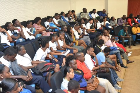 Youths gathered at the Inaugural National Youth Conference.