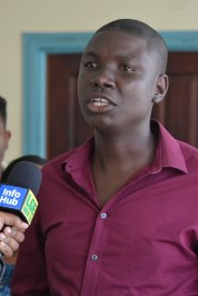 Number 28/Bush Lot/Adventure Neighbourhood Democratic Council (NDC) Chairman and representative of the Youth Champions' Network Region Six, Collin Moore.