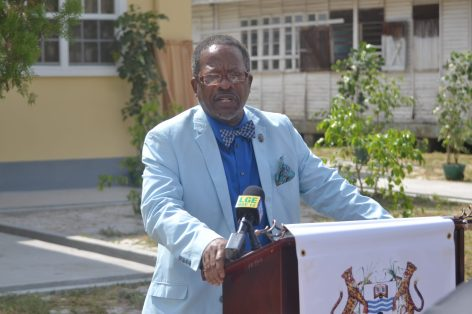 University of Guyana's Vice-Chancellor, Professor Ivelaw Griffith