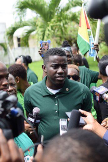 Georgetown's Deputy Mayor, Akeem Peter