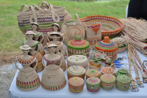 Some of the art and craft available at the Heritage Village.