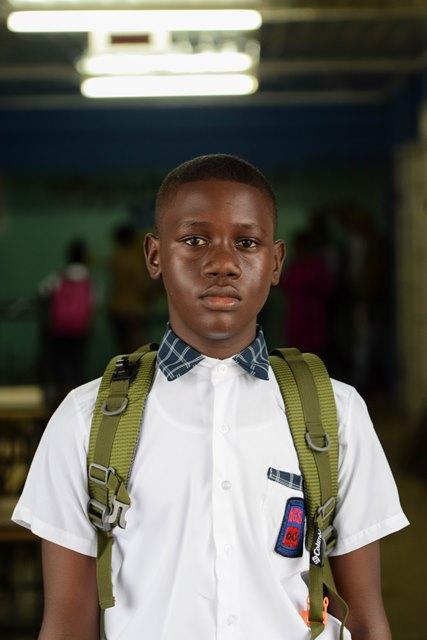 Student of North Georgetown Secondary School, Trevon Ramdass.
