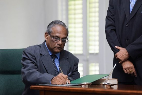 Justice William Ramlall during the swearing-in ceremony.