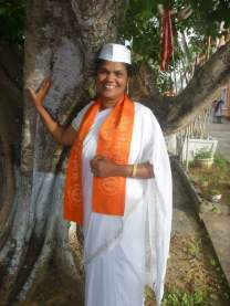 Dhanrajie Haimraj in her traditional Hindu Wear